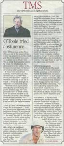 Times Diary O'Toole